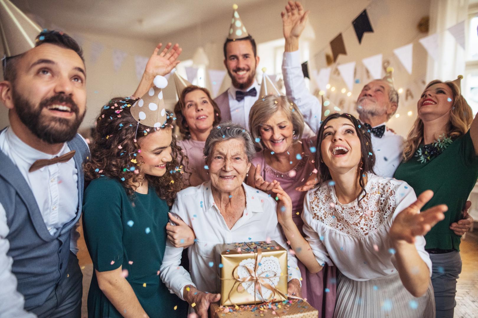 Birthday celebration family
